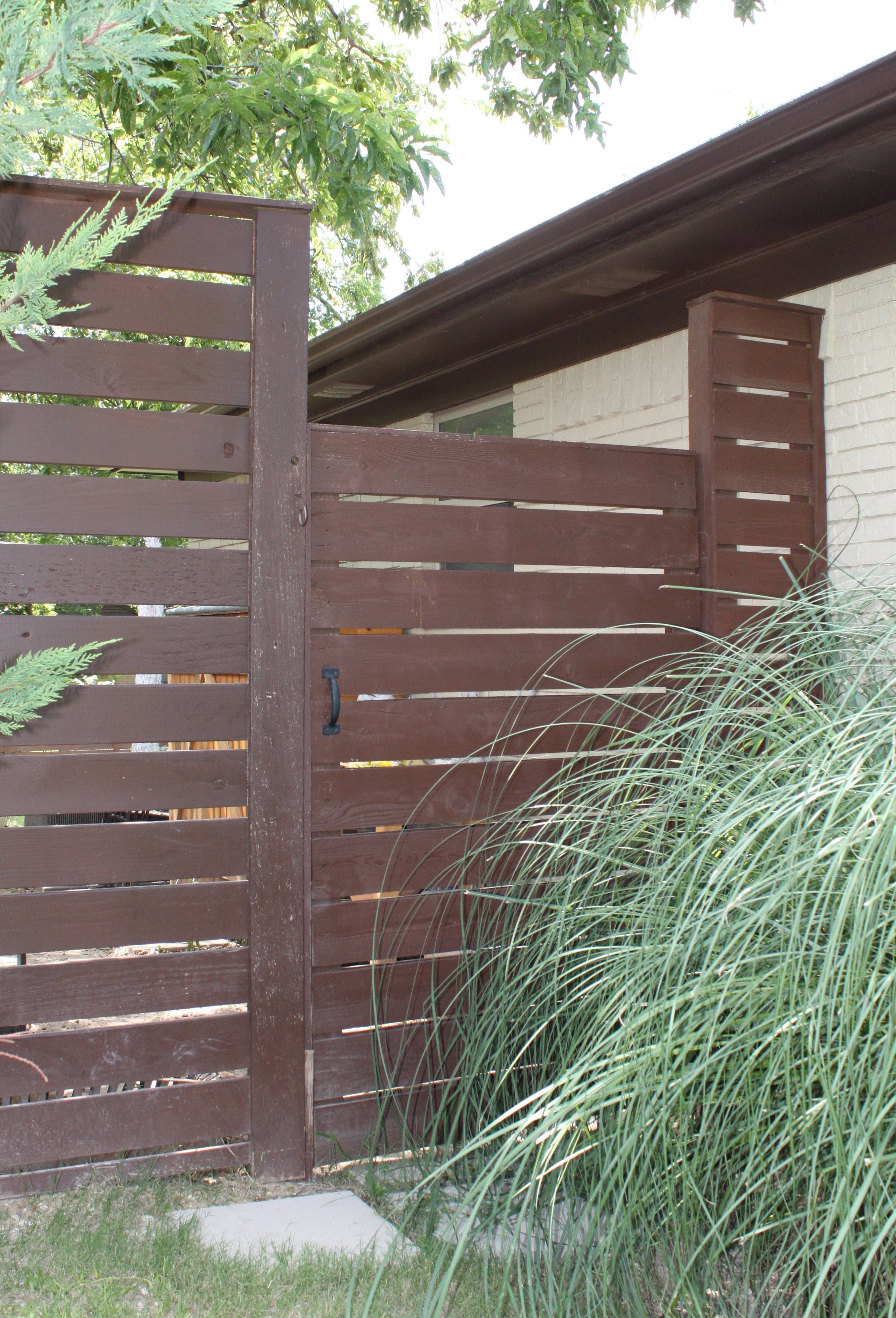 Modern Horizontal Fence The Cavender Diary