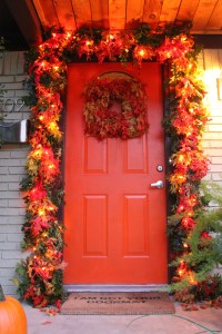 Autumn Door Garlands & Front Door Wreath. Fall Wreath