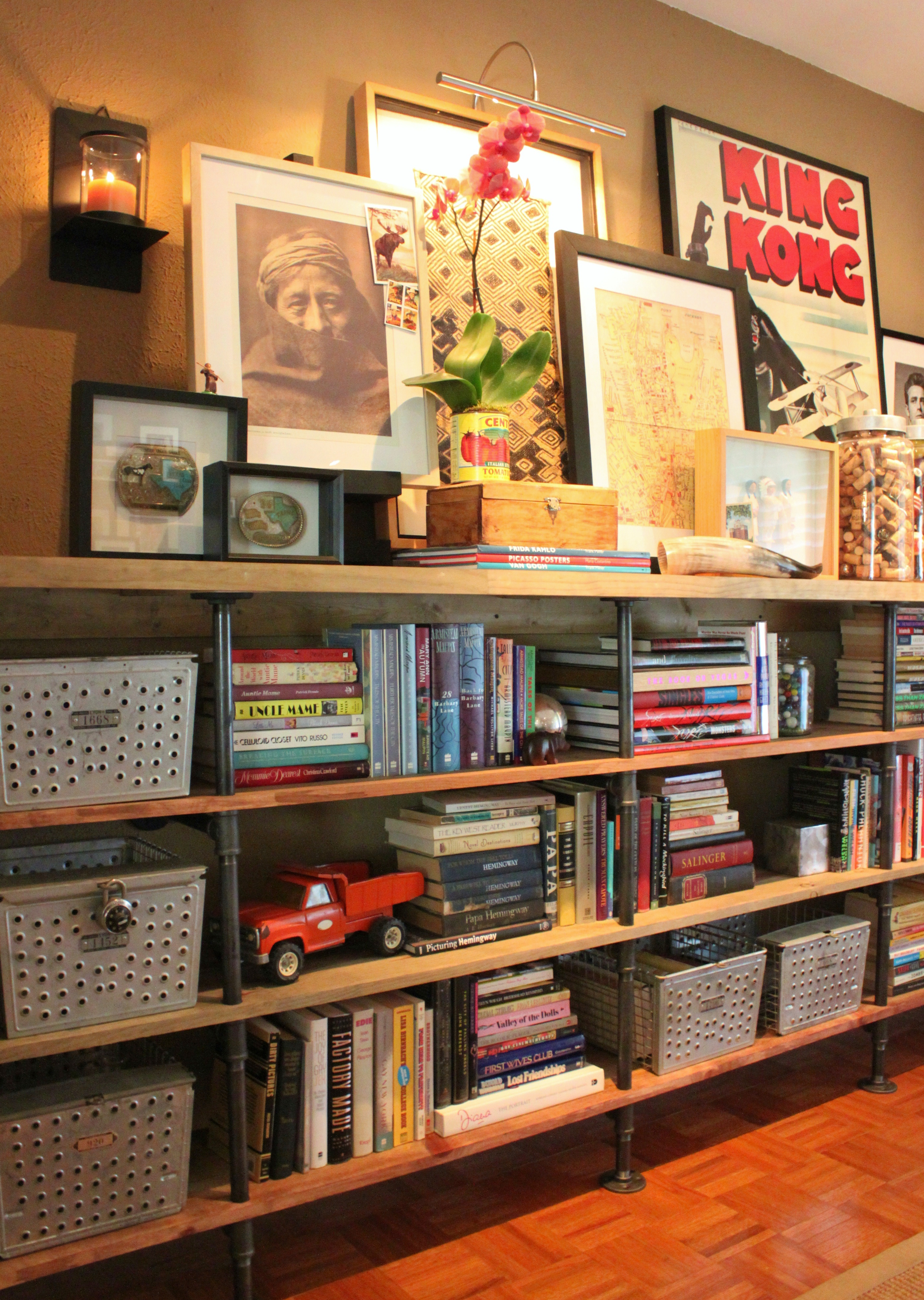 How To Build Plumbing Pipe Shelves  The Cavender Diary