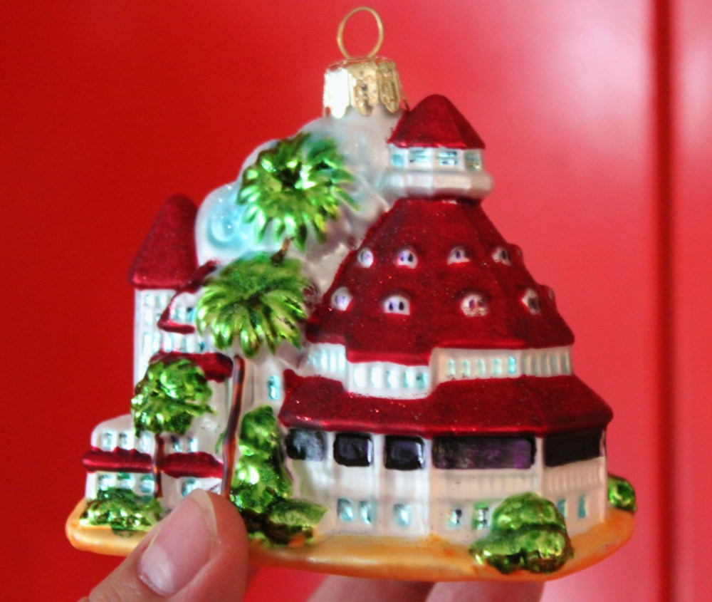 Hotel Del Coronado Christmas Ornaments Glass