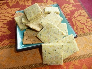 Hemp Seed and Almond Meal Crackers.