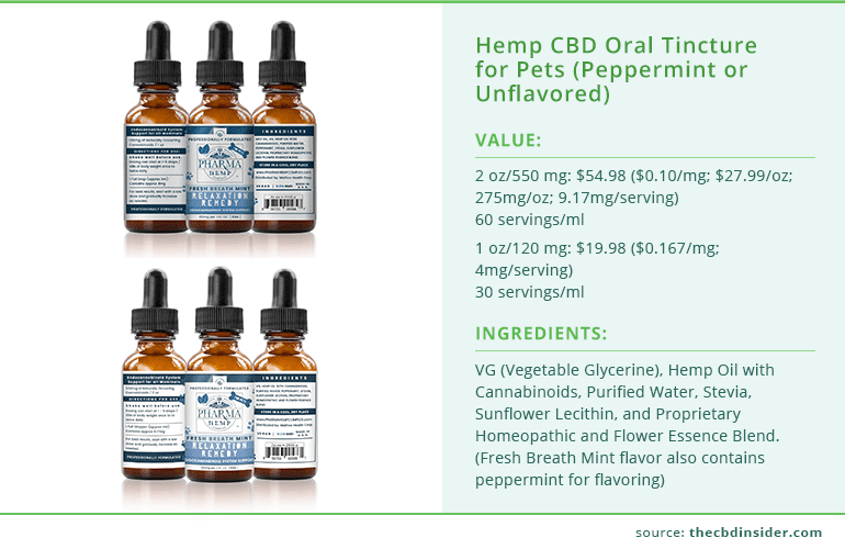 Hemp CBD Oral Tincture for Pets