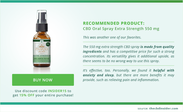 Recommended CBD product: CBD Oral Spray Extra Strength