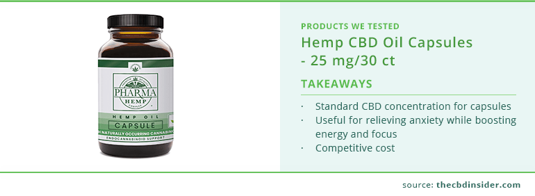 highlights of hemp cbd oil capsules