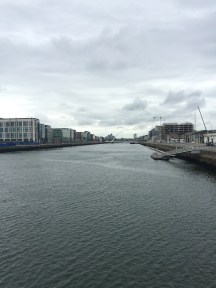 River Liffey, looking out to the Irish Sea