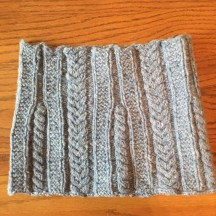 The cowl I knit with my Irish wool!