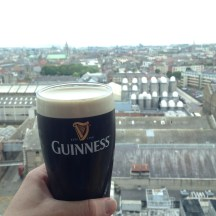 Guinness and a view of Dublin!