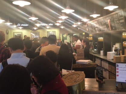 Inside the original Starbucks