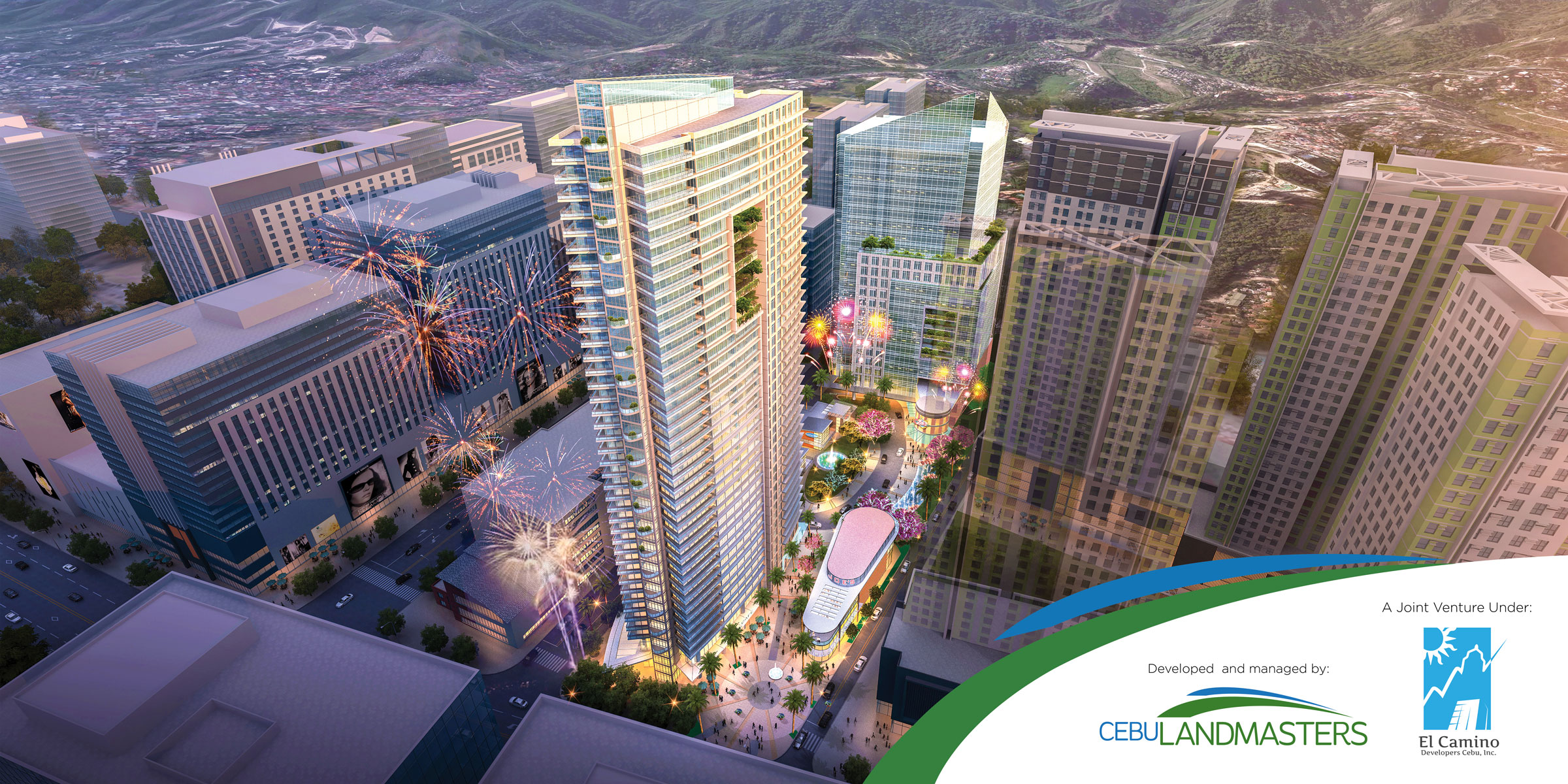 Top businessmen together with Cebu Landmasters will develop a mixed-use urban park and prime condo in Cebu IT Park