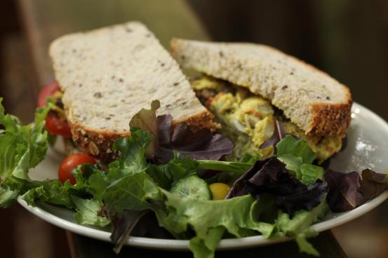 Our famous Curried Chicken Salad Sandwich