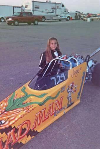 Lizzy Musi competing in Junior Drag Racing