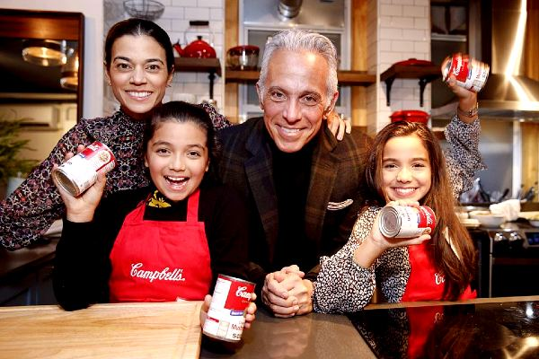 Chef Geoffrey Zakarian with his family(Wife and children)