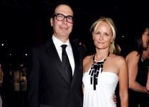Heather DeForest Crosby with his ex-husband Steven Mnuchin