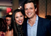 Jeffrey Livingston with his wife Abby Huntsman.
