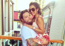 Corey Harrison with with Korina 'Kiki' Harrison.