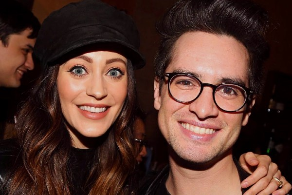 Sarah Urie with her husband Brendon Urie.