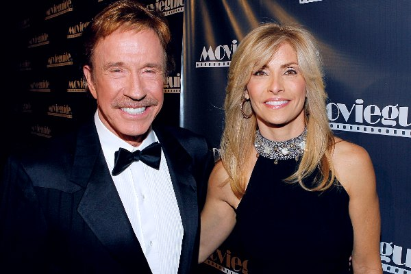 Gena O'Kelley with her husband Chuck Norris.