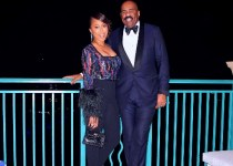 Marjorie Elaine Harvey with her husband Steve Harvey.