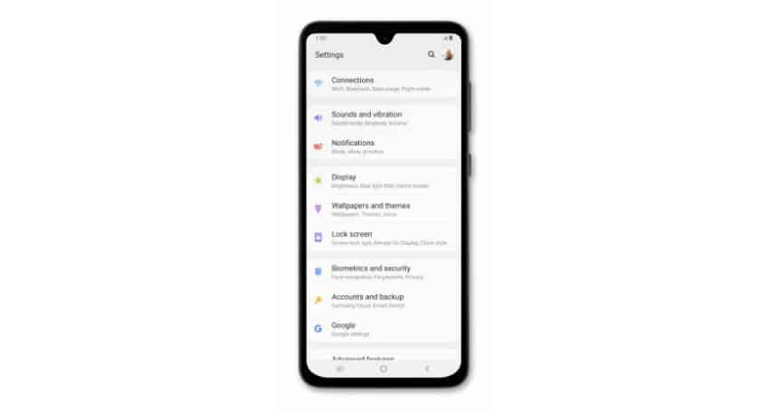Samsung Galaxy A50 keeps showing 'Settings keeps stopping