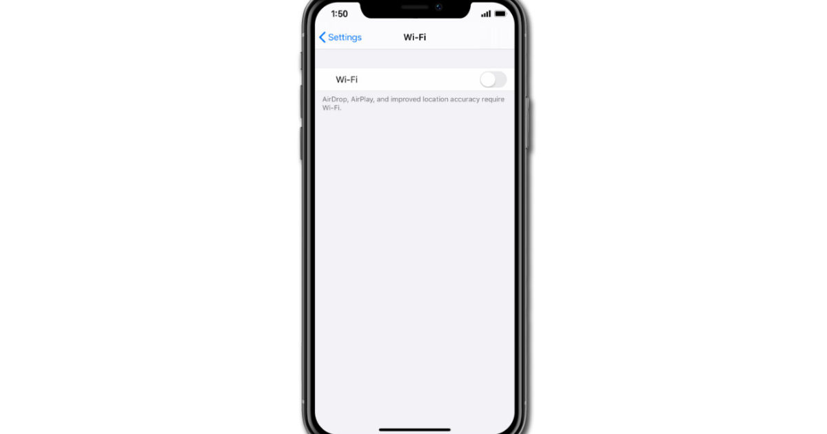 Fix an iPhone XS iOS 13 with no Internet while connected