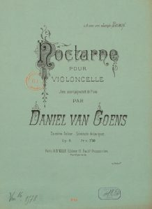 Goens D. - Nocturne for Cello and Piano Op.6
