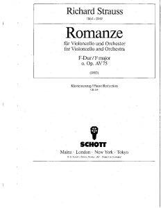 Strauss R. – Romance in F Major, AV 75