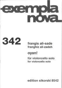Ali-Sade F. - Oyan for Cello Solo