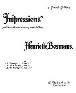 Bosmans H. - Three pieces (Cortege, Nuit calme, En Espagne)