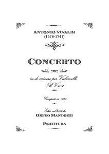 Vivaldi A. - Concerto for cello, strings and b.c. c-moll RV401