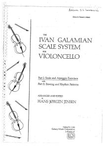 Galamian I. - Scale System for Cello 1 and 2 Parts