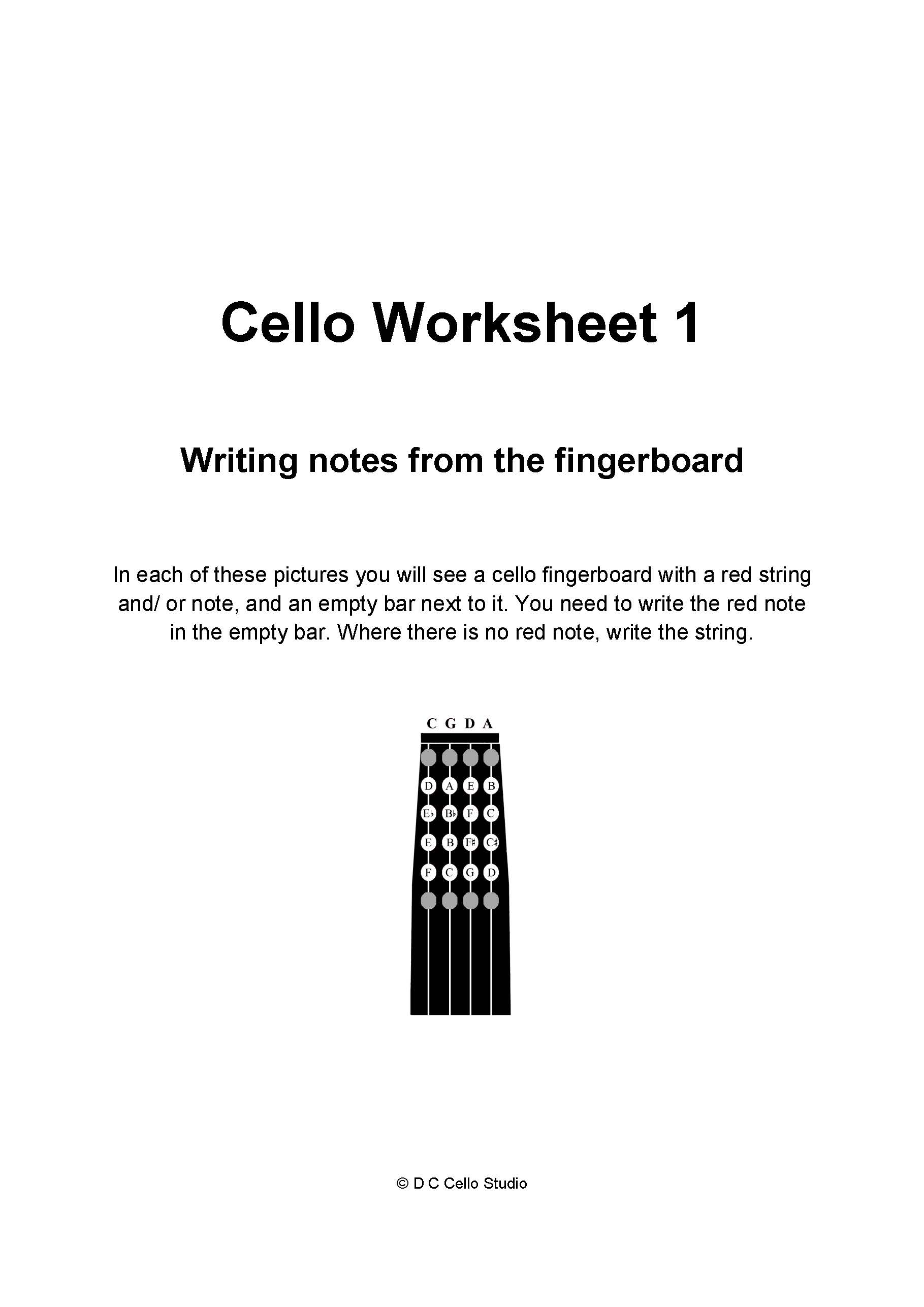 Cello Note Range
