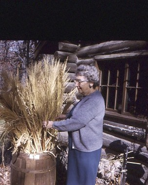 Elizabeth and wheat