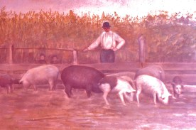 Ernest Warner and pigs