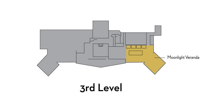 Moonlight Veranda - 3rd Level, West side