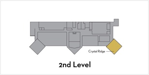 Crystal Ridge is located on the 2nd level on the Northwest side of the building
