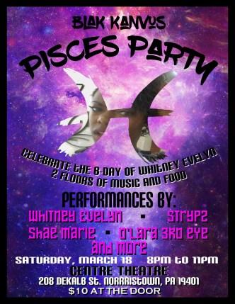 Blak Kanvus Pisces Party