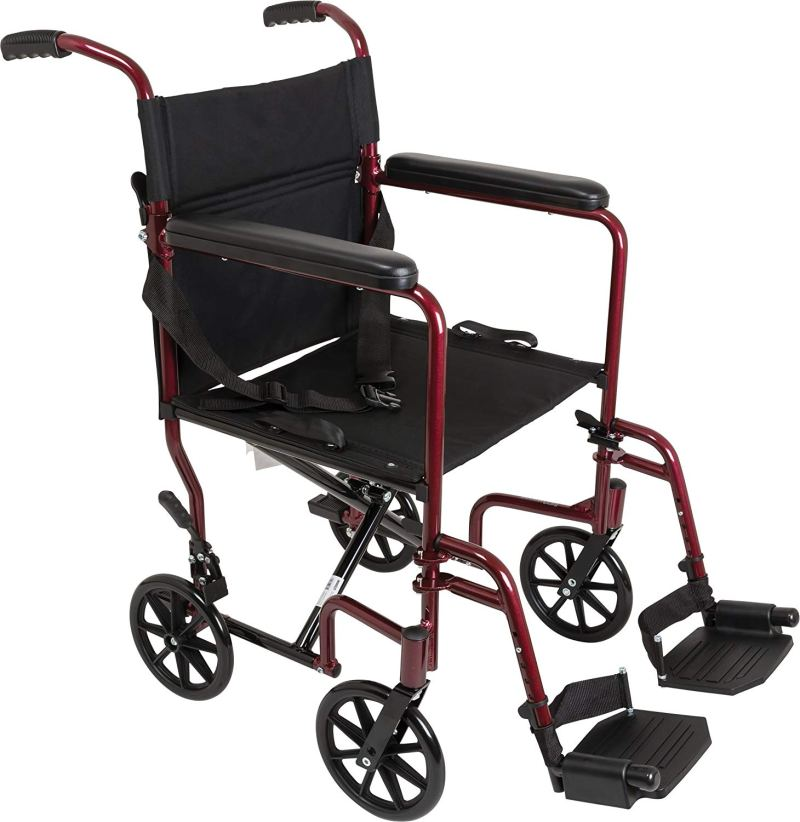 ProBasics 19-inch Aluminum Transport Wheelchair