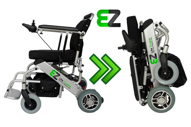 EZ Lite Cruiser Light Weight Folding Power Wheelchair