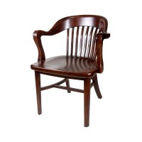 Brenn Antique Wood Arm Chair | The Chair Market