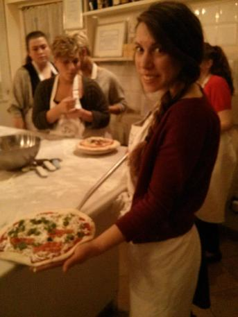 Pizza class in Italy