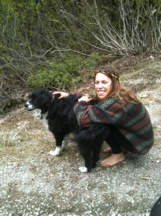 Holly with dog 2
