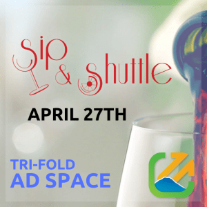 Sip & Shuttle Tri-fold Ad Space