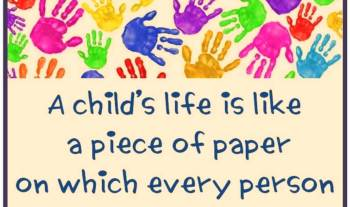 Thought For The Day – Life Of A Child