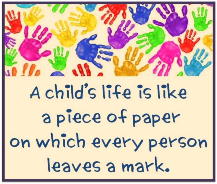 Thought for the day - Life of a child