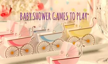 Baby shower games to play