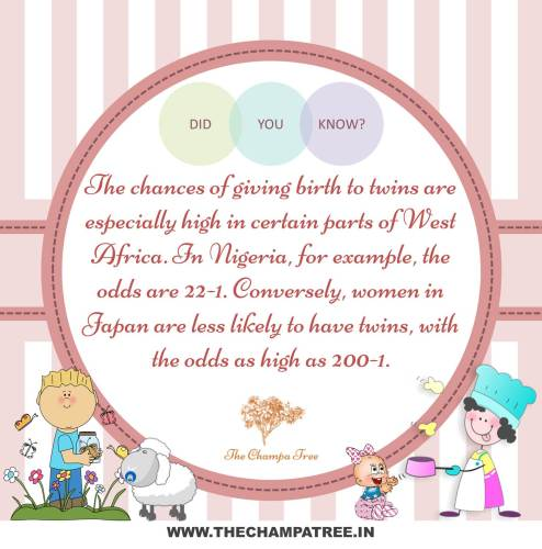Did You Know Facts - Twin babies