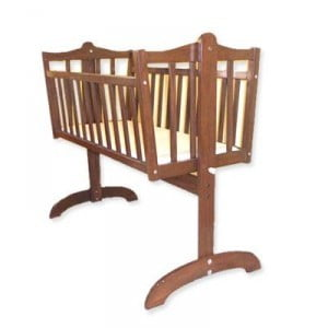 Wooden baby cradle 03