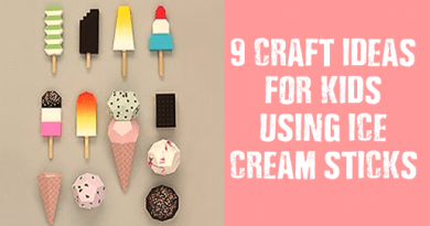 9 Cute and Easy Craft Ideas for Kids - Ice cream Stick stick craft