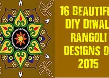 16 Beautiful DIY Diwali Rangoli Designs Of 2015
