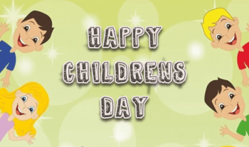 A Beautiful Happy Children's Day Message By The Champa Tree